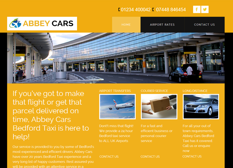 Website design for Abbey Cars Bedford
