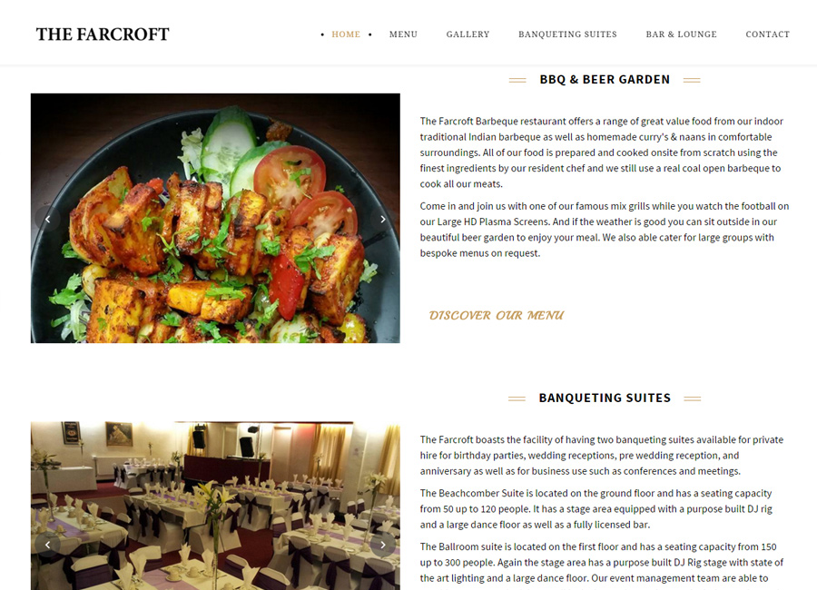 Website design for for The Farcroft